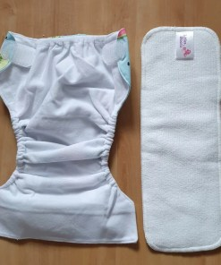 Open view of L&B newborn nappy with insert