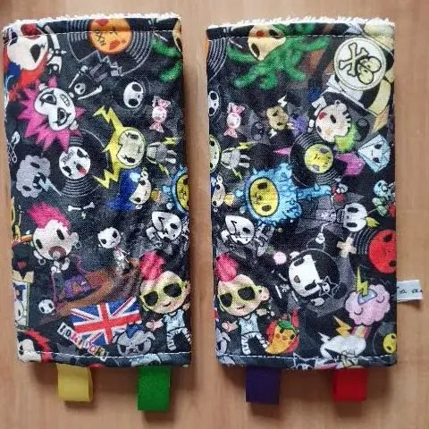 Suck pads with punky cartoon characters