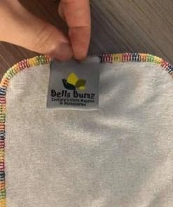 Bells Bumz Signature rainbow stitch edging