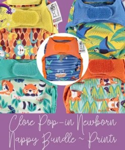 Close Pop-in prints nappy bundle