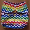 rainbow coloured chevron print nappy wrap