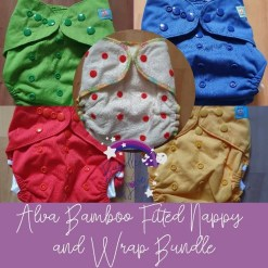 Group shot of Alva fitted nappy and wraps
