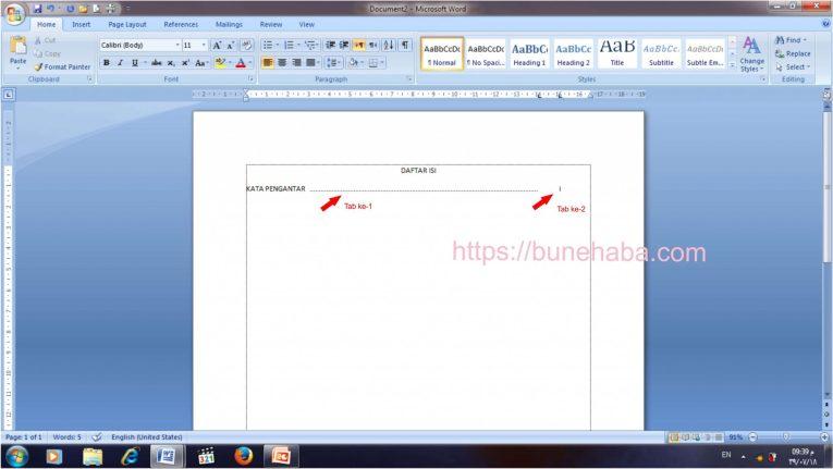Contoh Daftar Isi, Download File, Cara Membuat Daftar Isi
