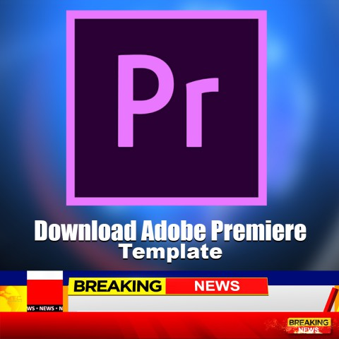 News channel lower third adobe premiere Template