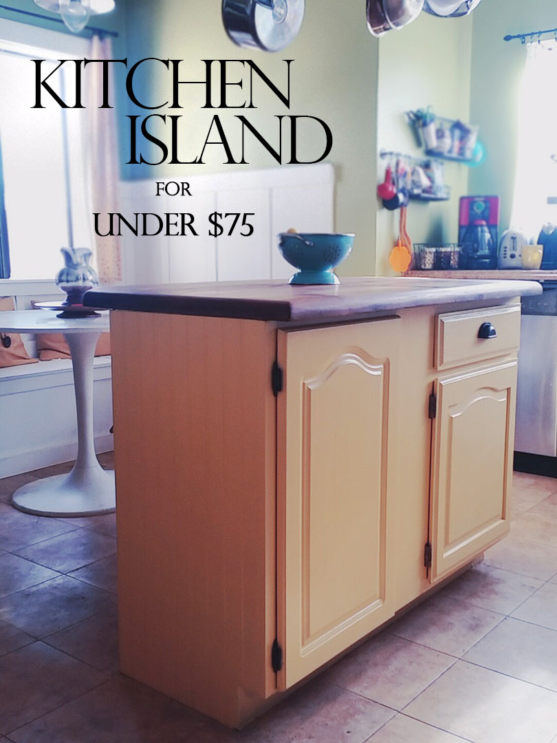 Upcycled Kitchen Cabinet to DIY Kitchen Island  Bungalow