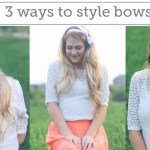 3 Ways to Wear a Bow in Your Hair- Video Tutorial