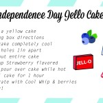 Easy Last Minute 4th Of July Treat – Flag Jello Cake