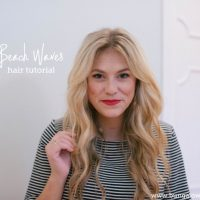 Loose Beach Waves Hair Tutorial (with video)