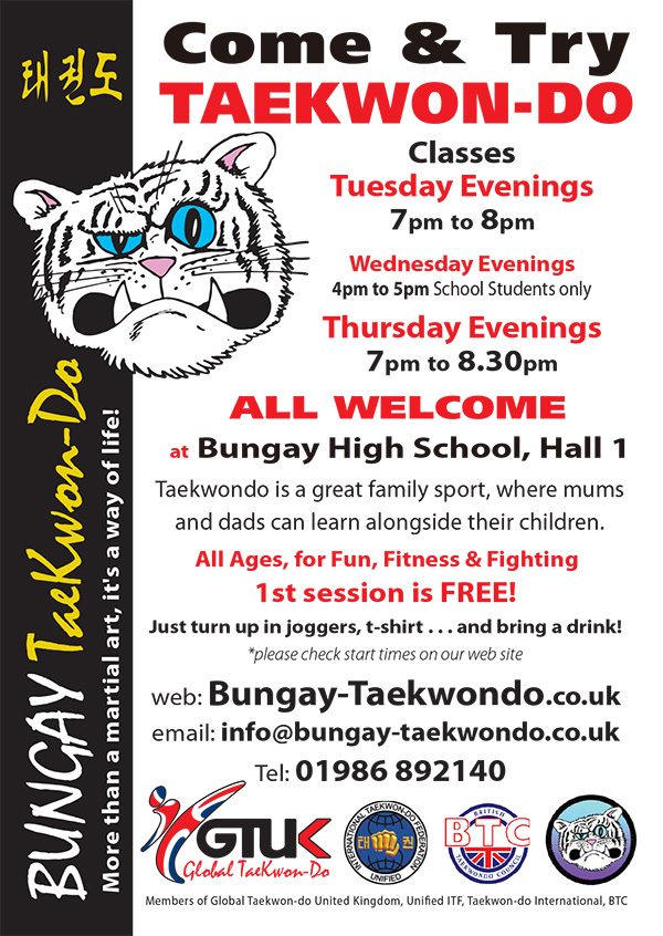 Come and Try Taekwon-do at Bungay Taekwon-do Club
