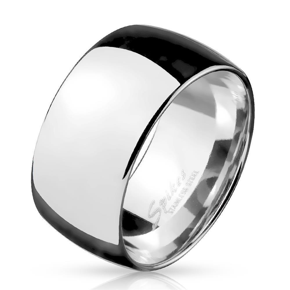 Ring breit Silber aus Edelstahl Herren 695