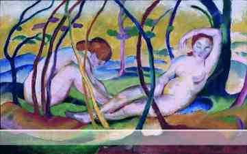 Akte unter Bäumen (Nudes under Trees), 1911
