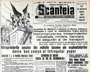 1948 Scânteia - Naţionalizarea întreprinderilor