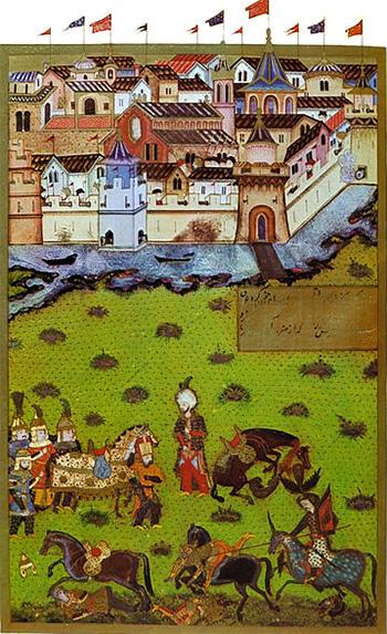 1552 Asediul Cetății Timișoara. Miniatură turcească