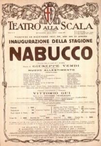 Giuseppe Verdi – Nabucco, Poster