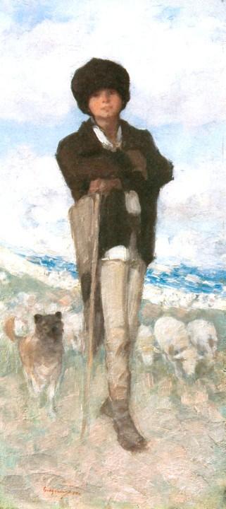 Shepherd with Dog