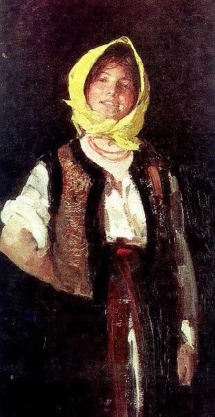 Cheerful Peasant Girl