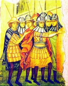 1449a Soldați Moldoveni. Frescă Mănăstirea Părhăuți