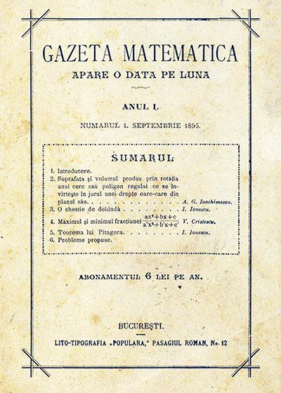 1895 - Gazeta Matematică