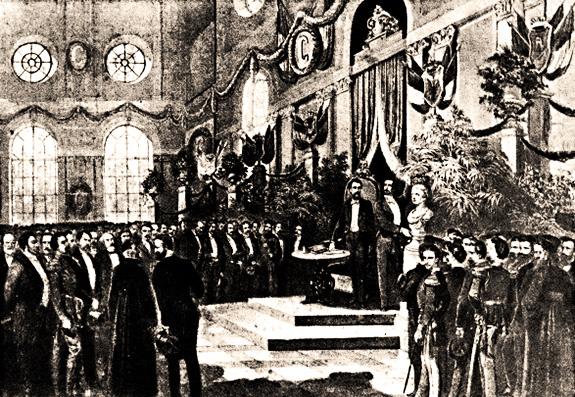 1868 Ședința Societăţii Academice Române