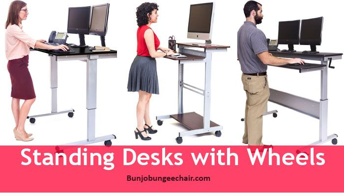 Standing Desks with Wheels  Best Bungee Chairs  Furnitures