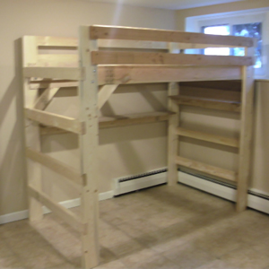 The Manhattan Solid Wood Loft Bed Free Shipping  Bunk