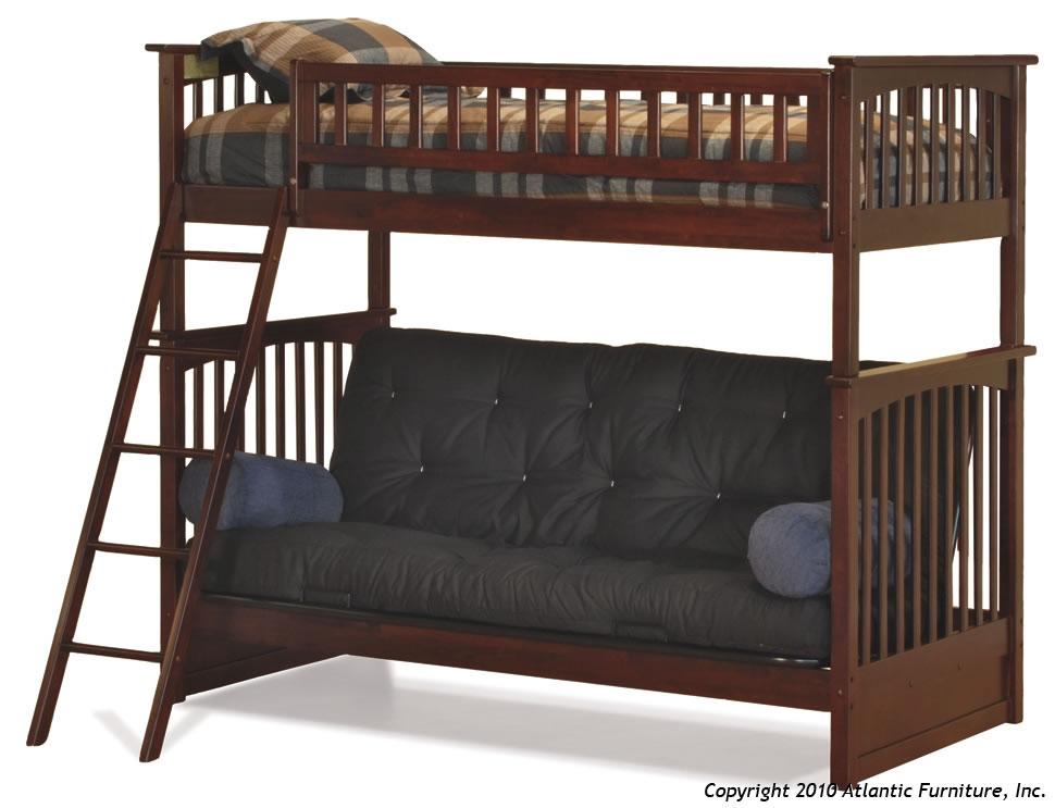 Atlantic Furniture Columbia Twin over Futon Bunk Bed