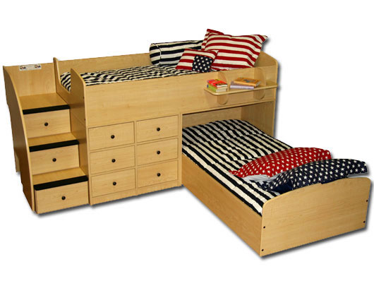 Berg Furniture Sierra Captains Bed For Two