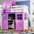 Lea getaway twin loft with pink purple tent
