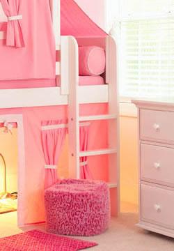Maxtrix Kids Princess Castle Loft Bed With Slide