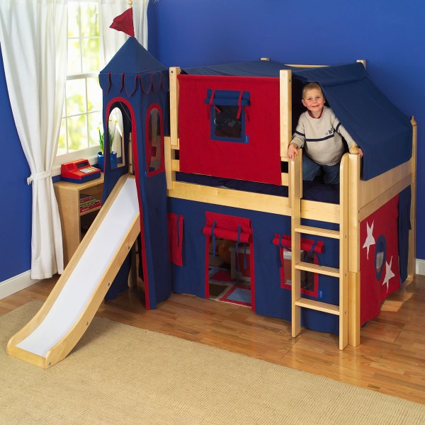 Boys Bunk Bed with Slide