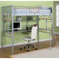 Powell bauble girls twin metal loft bed with desk click to enlarge