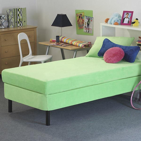 Kids Memory Foam Mattress  8 Green Waterproof Cover