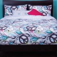Peace Sign Bedding - Dream Catcher Peach Sign Comforter Set