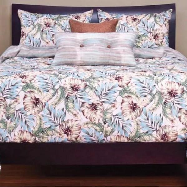 Tropical Print Bedding Panama Beach Bed Cap Comforter Set