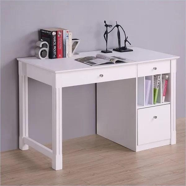 White Desk Student Storage Desk W Keyboard Tray