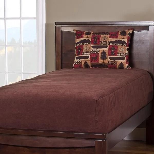 Deluxe Solid Color Reversible Bed Cap Comforter