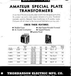thordarson t 16 series amateur radio plate types [ 1267 x 1636 Pixel ]