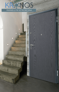 porta blindata con pannello in vetroresina kronos liscio