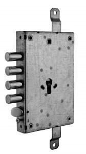 serratura triplice a mandate reversibile