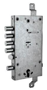 serratura triplice ad ingranaggio doppio sistema con chiave doppia mappa e cilindro europeo