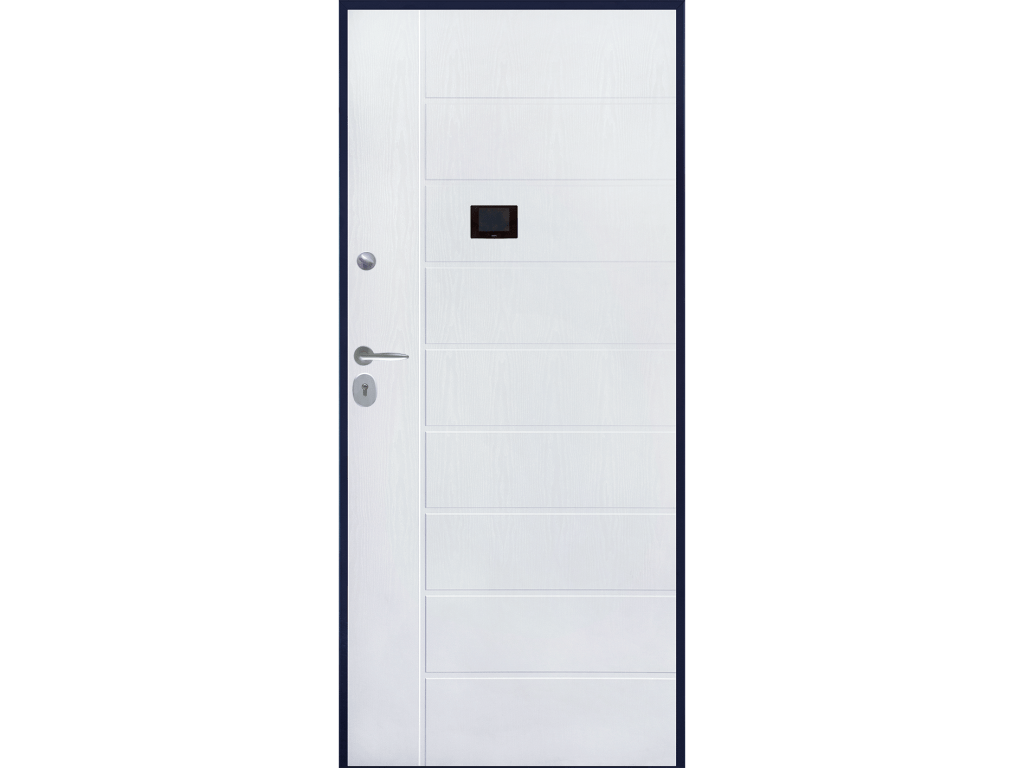 porta blindata pvc mdf bianca