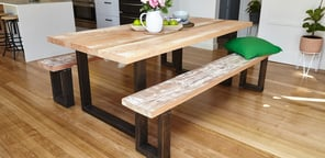 wooden kitchen table movable cabinets how to make a d i y dining bunnings warehouse