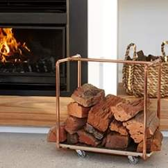Living Room Firewood Holder Paint Colors For And Dining How To Make A D I Y Copper Rack Bunnings Warehouse Diy