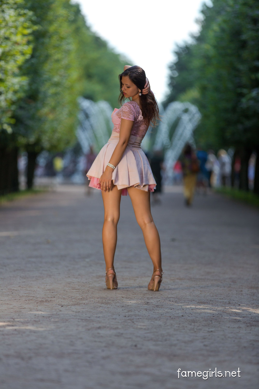 Audrey Pink Dress Fame Girl