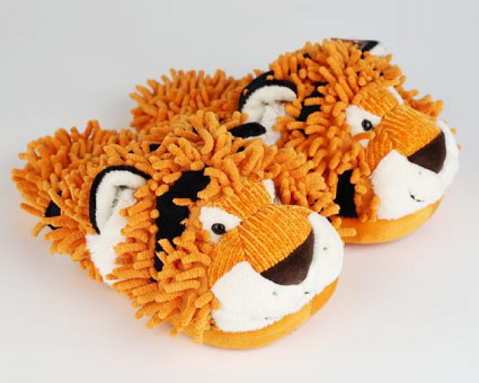 Fuzzy Tiger Slippers  Tiger Slippers  Tiger Animal Slippers