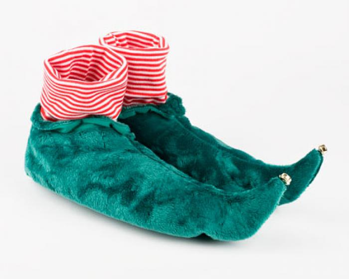 Elf Slippers  Green Elf Slippers  Holiday Christmas Slippers