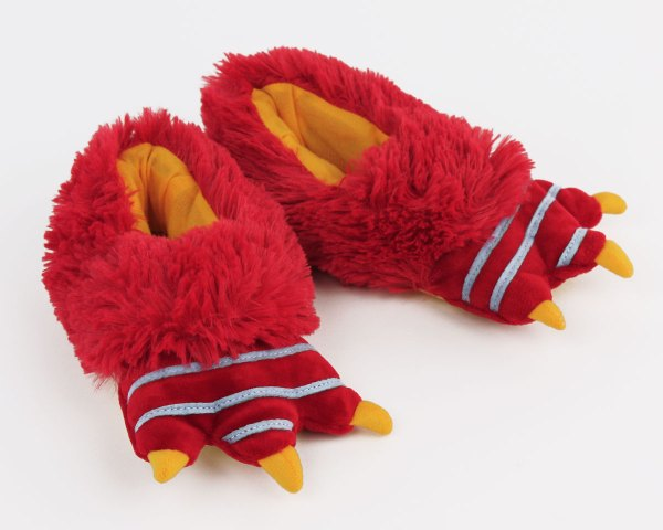 Kids Red Monster Slippers Foot