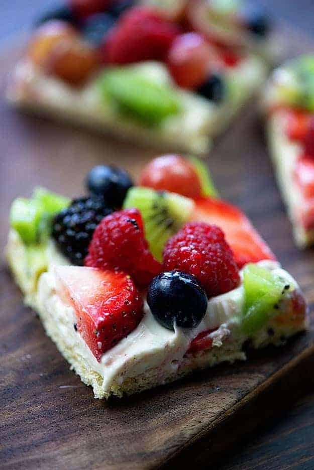 Cream Cheese Fruit Pizza Fruit Salad Pizza Crust