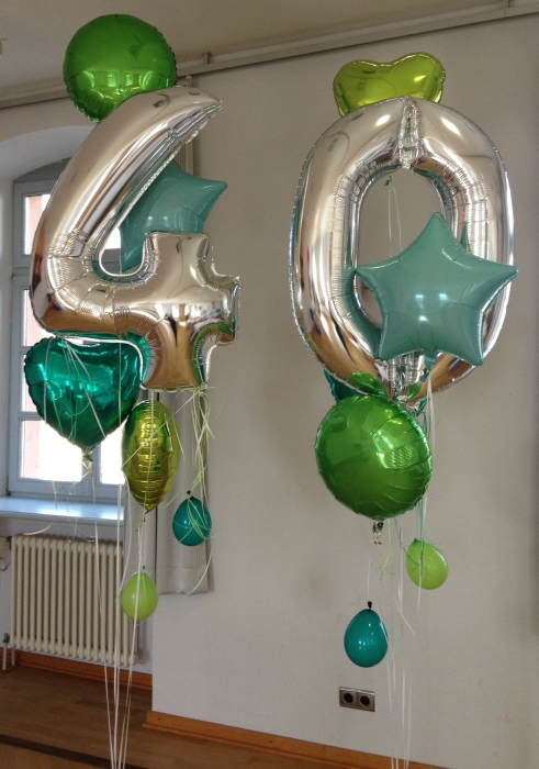 Groe Zahlenballons  Buntschnabel Haloch Kinderbasteln