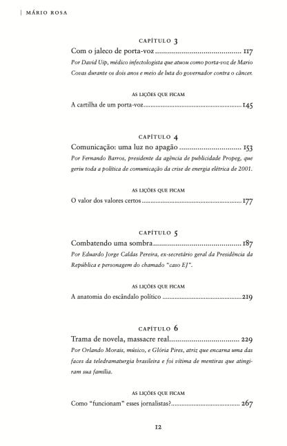 Sumário do livro A era do escândalo